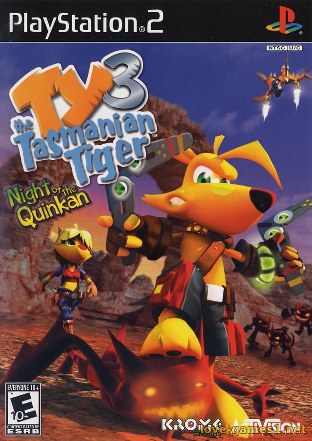 Обложка [PS2] Ty the Tasmanian Tiger 3: Night of the Quinkan [RUS/ENG|NTSC]