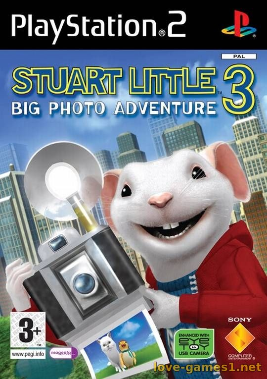 Обложка [PS2] Stuart Little 3: Big Photo Adventure [FULL RUS/Multi 9|PAL]