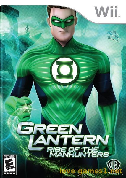 Обложка [Wii] Green Lantern: Rise of the Manhunters [NTSC, ENG]