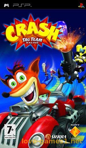 Crash tag team racing playstation portable(psp isos) rom download.